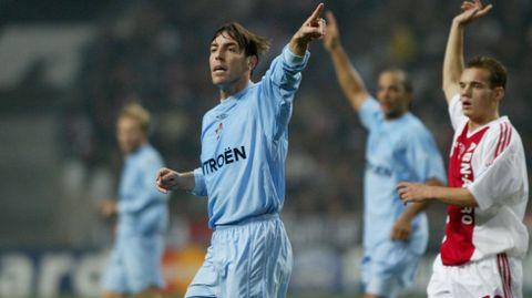 Berizzo, en un choque contra el Ajax en la temporada 2003/2004