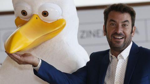 Arturo Valls durante la presentación hoy de su película «Storks»