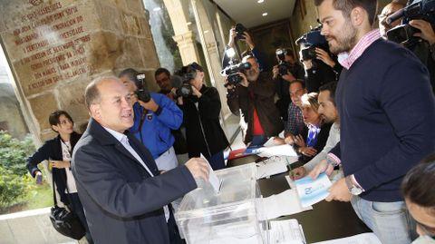 El candidato del PSdeG, Xoaquín Leiceaga.
