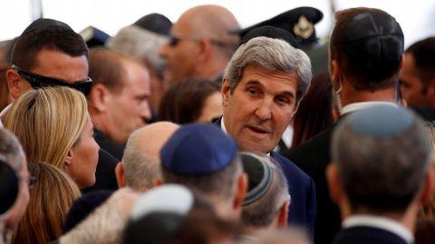 El secretario de Estado norteamericano, John Kerry fue otro de los asistentes a la ceremonia
