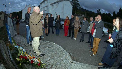 Homenaje a los mártires de Cans en Porto do son