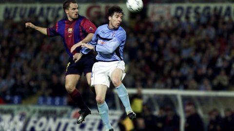 Frente al Barça marcó tanto en la ida como en la vuelta de las semis de Copa del 2001