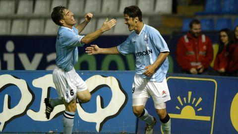 El 30 de septiembre del 2001 experimentó lo que es marcarle al Deportivo; acabaron 2-2