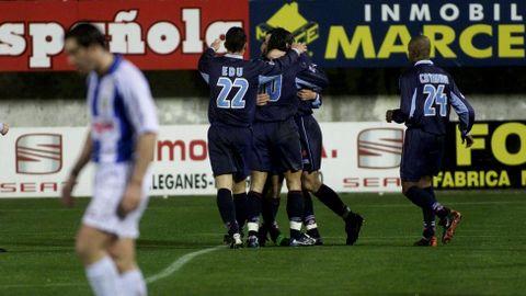 Frente al Leganés se estrenó como goleador celeste el 10 de enero del 2001 en Butarque