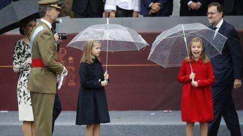 Durante los actos del 12 de octubre en Madrid.
