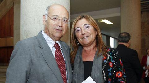 Ángel Gil y la pediatra gallega Rosaura Leis