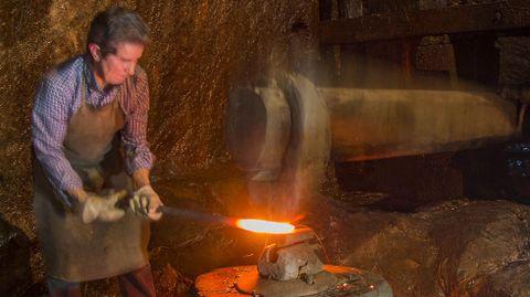 La ferrería de Penacova, en Bóveda, es la única que ofrece demostraciones de funcionamiento