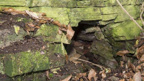 Boca del antiguo horno de cal de Goimil, en O Incio