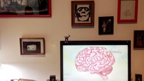 Un detalle de la instalación multimedia de Cristina Busto «Ser absurdo»