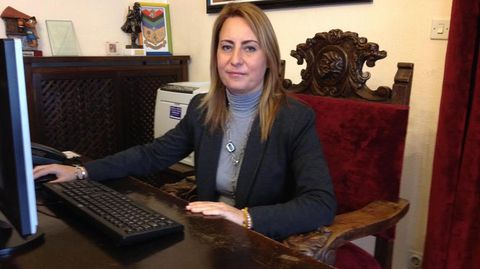 Gema Álvarez, alcaldesa de Lena.Gema Álvarez, alcaldesa de Lena