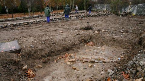 Os restos da antiga poboación apareceron durante os controis arqueolóxicos das obras de acondicionamento do parque Zapardiel, na ladeira norte do monte de San Vicente