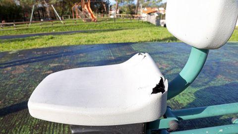 Chequeo parque infantil, zona recreativa de Batalla, en Xuño