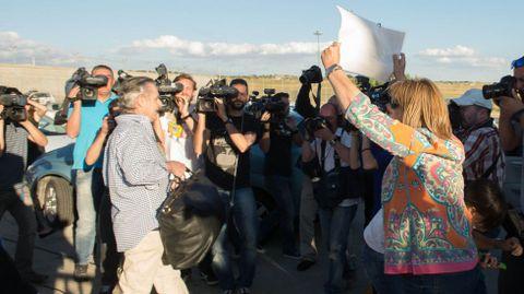 Miguel Blesa, a su salida de la cárcel de Soto del Real