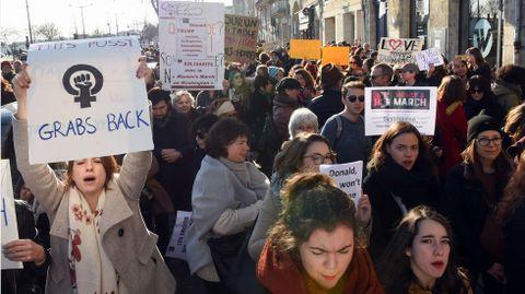 Protesta en Burdeos