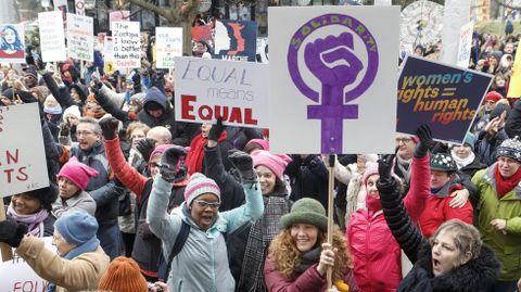 Marcha feminista en Ginebra