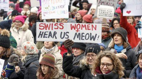 Protesta en Ginebra