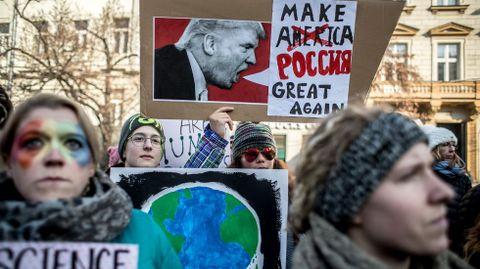 Protesta en Praga