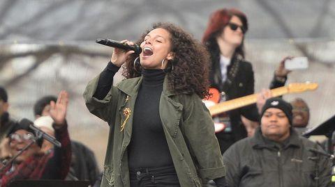 Alicia Keys actúa en Washington