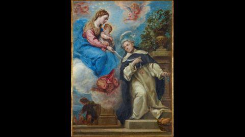 Claudio Coello. «San Buenaventura o Virgen con el Niño y Santo o Aparición de la Virgen al Beato Simón de Rojas» (hacia 1663-1665)