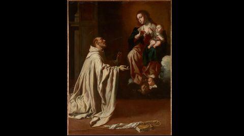 Jerónimo Jacinto de Espinosa. «Visión mística de San Bernardo de Clairvaux» (hacia 1650)