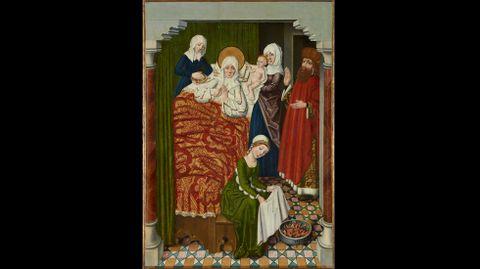 Círculo de Diego de la Cruz. «Tabla del Nacimiento de la Virgen (Tabla de Adanero)»