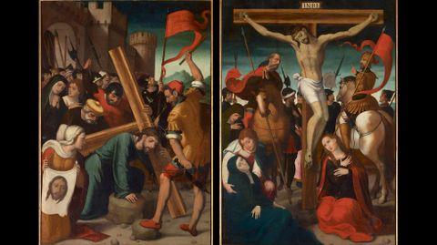 Juan Correa de Vivar. «Camino del Calvario» y «Crucifixión»