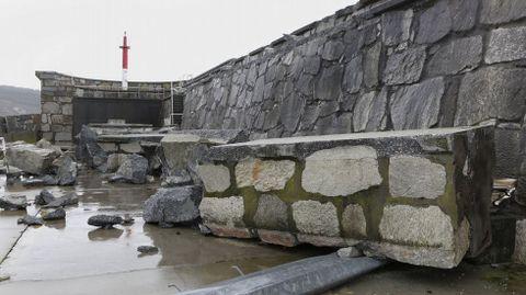 Situación en Corme, donde el puerto se vio muy afectado