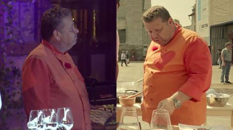 chicotecomboh.A la izquierda, Chicote en la actual edición de «Top chef» y, a la derecha, en una edición pasada