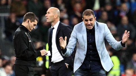 En el famoso partido del Bernabéu, donde se quejó de la actuación arbitral y se ganó una multa