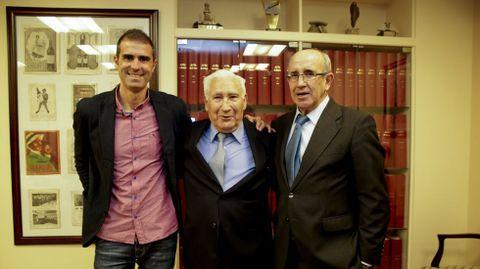 Con Arsenio e Irureta, en la fiesta de los 110 años del Deportivo
