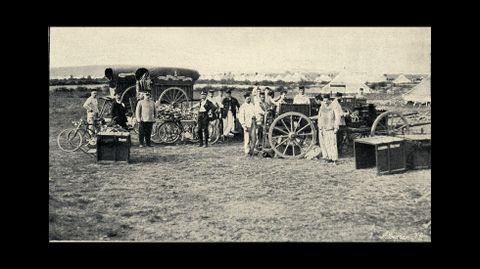 Una estación de telegrafía sin hilos -un invento aún reciente por entonces-  utilizada para coordinar las operaciones en el Campo do Teixugo
