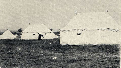 Estas tiendas de campaña fueron utilizadas por el rey Alfonso XIII y su séquito