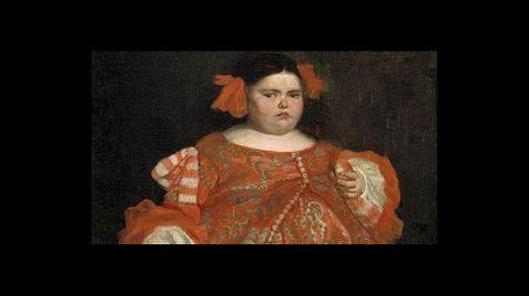 «La monstrua vestida», del pintor de cámara Juan Carreño de Miranda (1680). Óleo sobre lienzo. Madrid, Museo del Prado