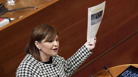 Isabel Bonig. Valencia. La única candidata, la actual presidenta será ratificada hoy en la clausura del Congreso.