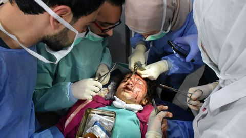 Heridos en el ataque de Alepo