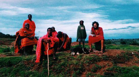 Parada con los Masai donde pudo dormir y vivir con ellos unos días.Parada con los Masai donde pudo dormir y vivir con ellos unos días