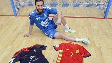 El jugador de fútbol sala Adrián Alonso, Pola