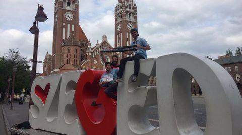 Álvaro Molina, Alejandro Vázquez y Dabuel Fedello, desde Szeged (Hungría)