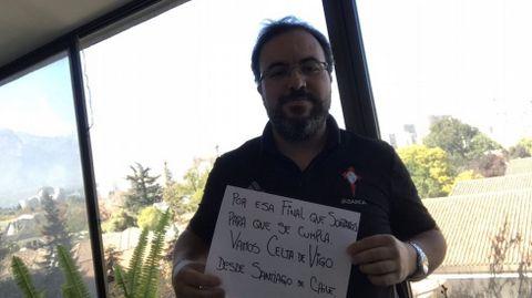 José Marino se suma a la causa desde Santiago de Chile