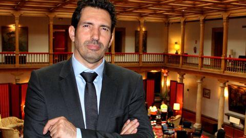 César Bona, en el hotel de la Reconquista