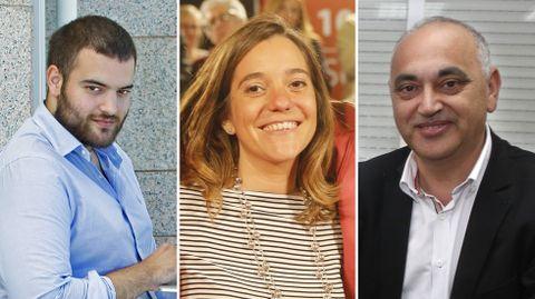Iván Castro, Inés Rey y Agustín Fernández