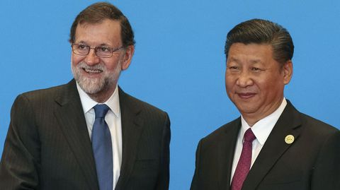 Rajoy junto a Xi Jinping