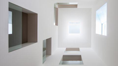Lucernario central de la ampliación del Bellas Artes