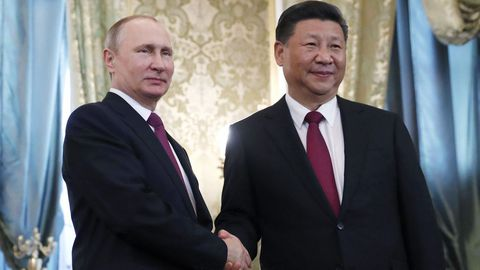 Putin se reunió con el presidente chino Xi Jinping