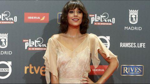La actriz española Belén Cuesta, a su llegada a la ceremonia de entrega de los IV Premios Platino