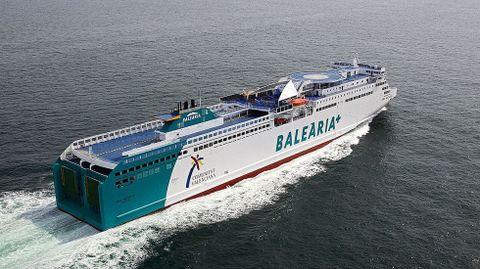 Un ferry de Baleària