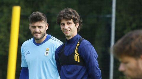 Fabbrini y Juan Carlos en un entrenamiento