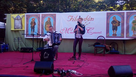 Los músicos alemanes Ulrich y Liesa Künzelmann tomaron parte en esta edición del Filandón