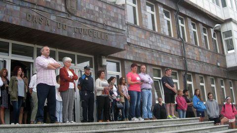 Minuto de silencio convocado por el concello en Vilalba, Lugo