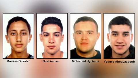 De arriba a abajo y de izquierda a derecha: Moussa Oukabir,Said Aallaa,Mohamed Hychami y Younes Abauyaaqoub